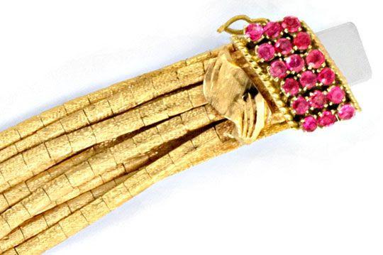 Originalfoto GOLDARMBAND REIHEN SCHLOSS RUBINE GOLD