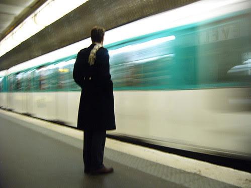 Man at Franklin D Roosevelt Metro Station