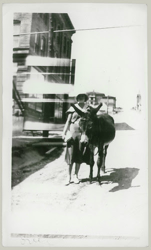 Woman and Mule