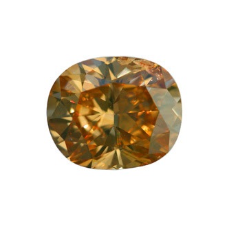 Fancy Deep Brownish Yellowish Orange Diamond, Oval, 1.08 carat, SI2