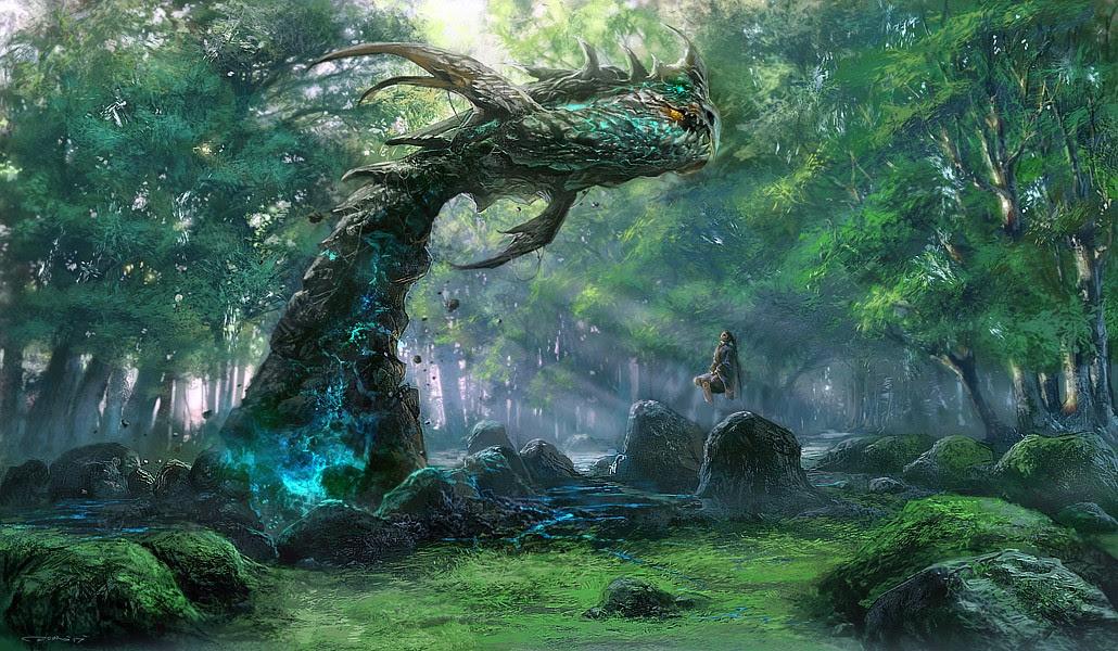 Fantasy Digital Paintings the_summoner by noah-kh