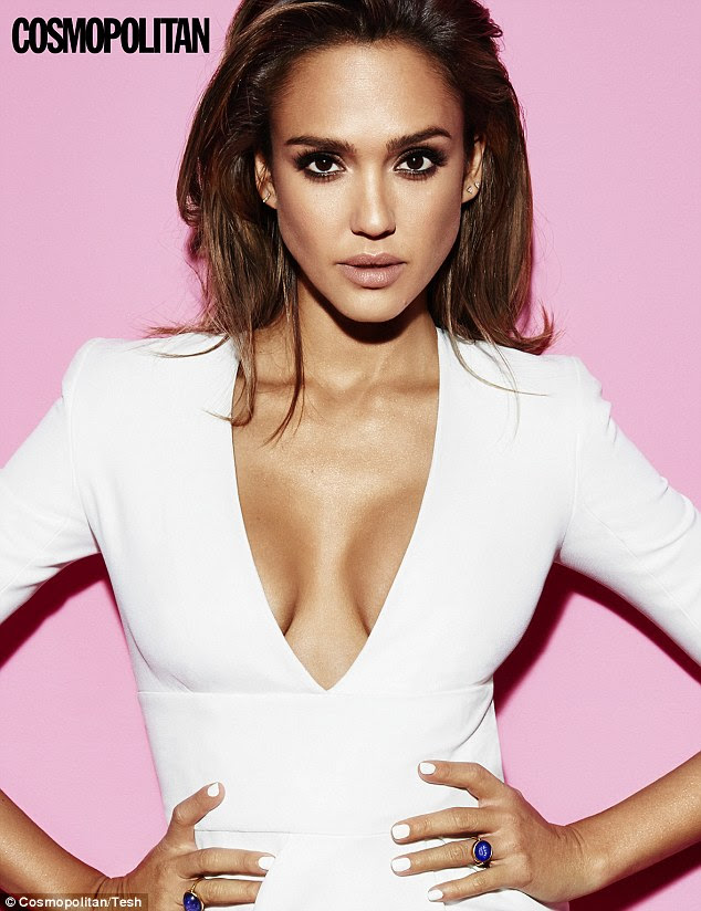 'Sensual person':Jessica Alba has revealed she only finally came to terms with her feminine side when she entered her thirties because she was 'aggressive and super-masculine' throughout her younger years