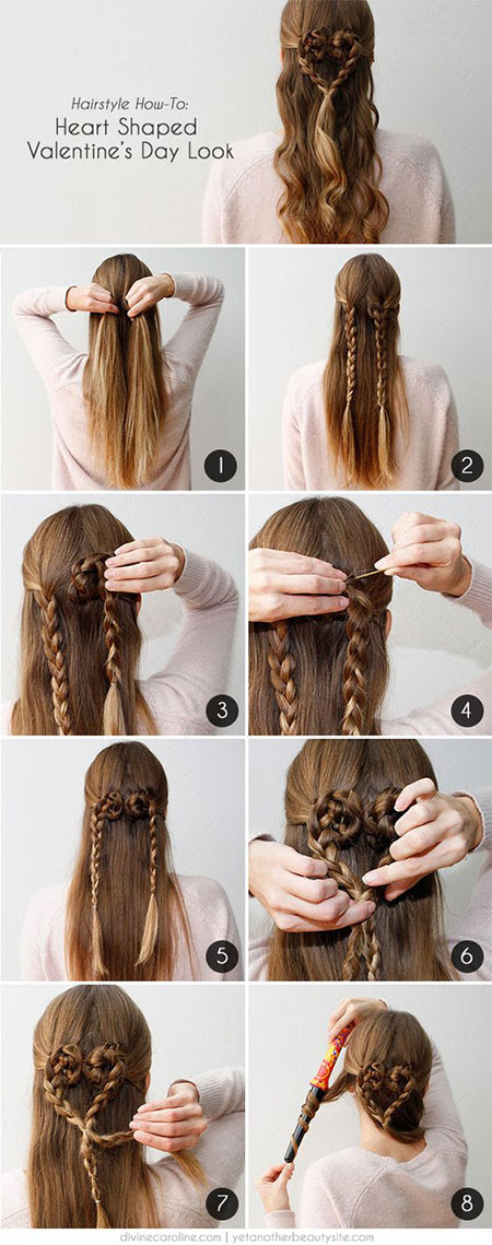 Easy Valentine's Day Hairstyle Tutorials For Beginners ...