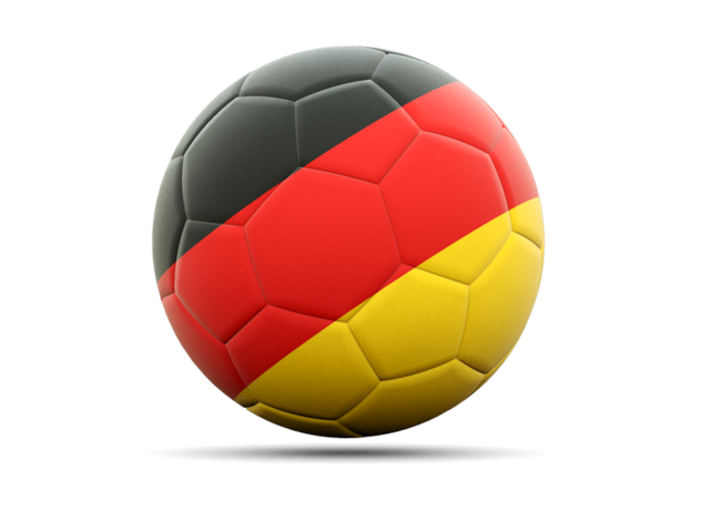 Football icon. Illustration of flag of Germany