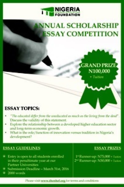 education in nigeria essay The major purpose of this research study is contrived to determine and evaluate the historical backgrounds of nigeria and the united states and its implications in.