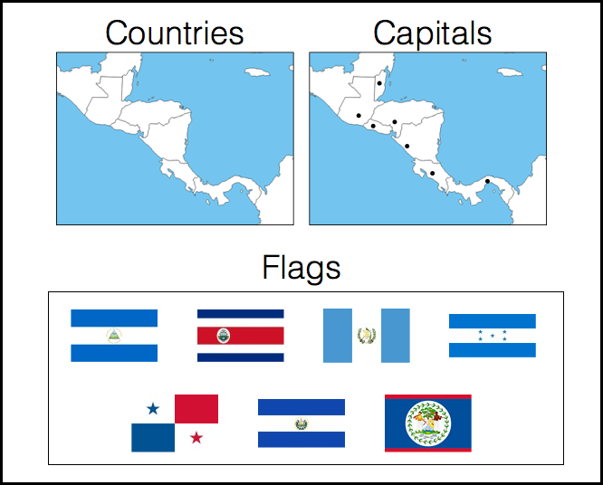 Countries Capitals And Flags Of Central America Quiz By