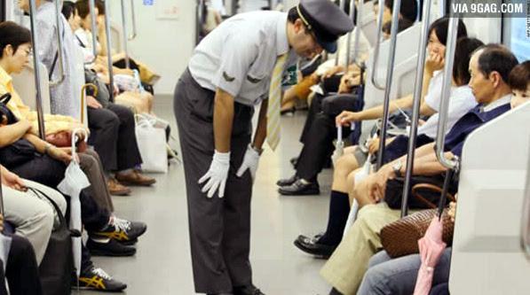 người Nhật Bản, phương tiện công cộng, kiểm soát viên, lời xin lỗi, người lái tàu, người trung quốc