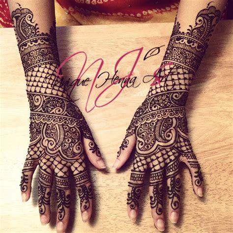 Traditional Indian bridal henna 2013 © NJ's Unique Henna