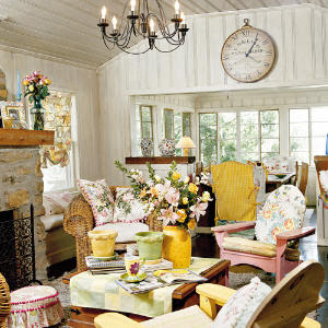 Decorating your family room with a coastal cottage style | Just ...