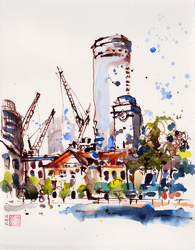 Sketching @ Singapore River