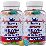 Hemp Gummies (2-Pack – 120 Count) Premium Hemp Extract Sugar Coated Gummies – 25,000mg per Bottle – for Relief of Pain, Stress, Anxiety, & Improved Sleep – 100% Natural – Made in USA