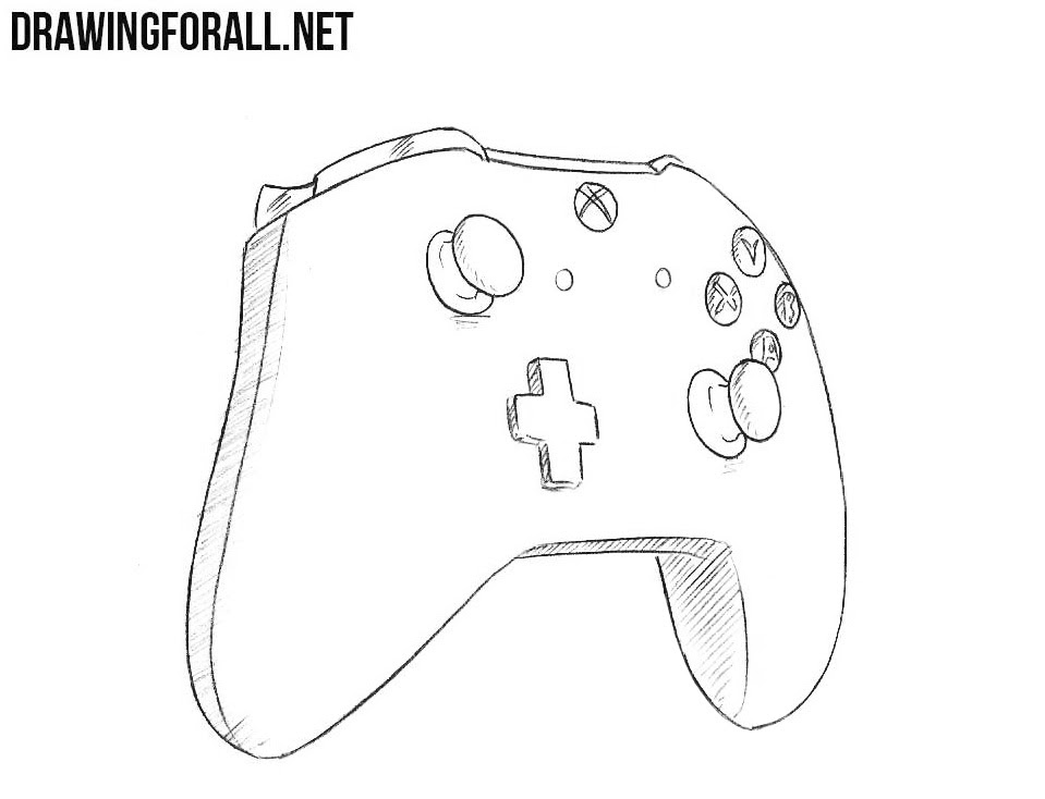 How To Draw A Xbox One Controller Drawing Art Ideas