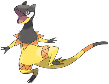 Heliolisk artwork by Ken Sugimori
