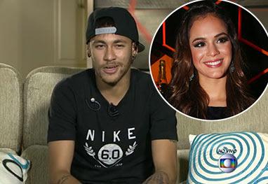 Neymar assume que está namorando Bruna Marquezine - Reprodução TV Globo