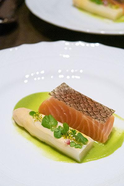 Aura National Gallery Singapore Salmon and White Asparagus