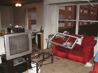 picture of apartment after fiery suicide