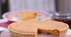 Phil Vickery Bakewell tart with apricot and raspberry jam ...