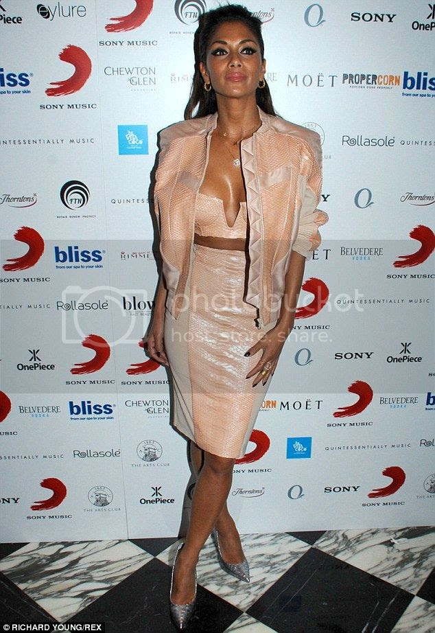 Nicole Scherzinger's look at 2014 Brit Awards after-party...