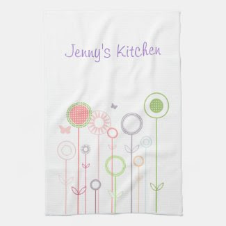 Sweet Spring Floral Tea Towel kitchentowel