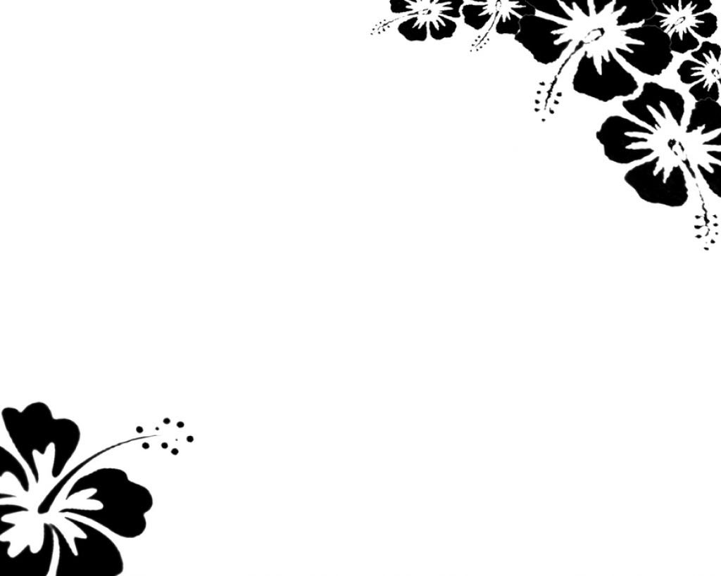 Free Page Border Designs Flowers Black And White Download Free Clip
