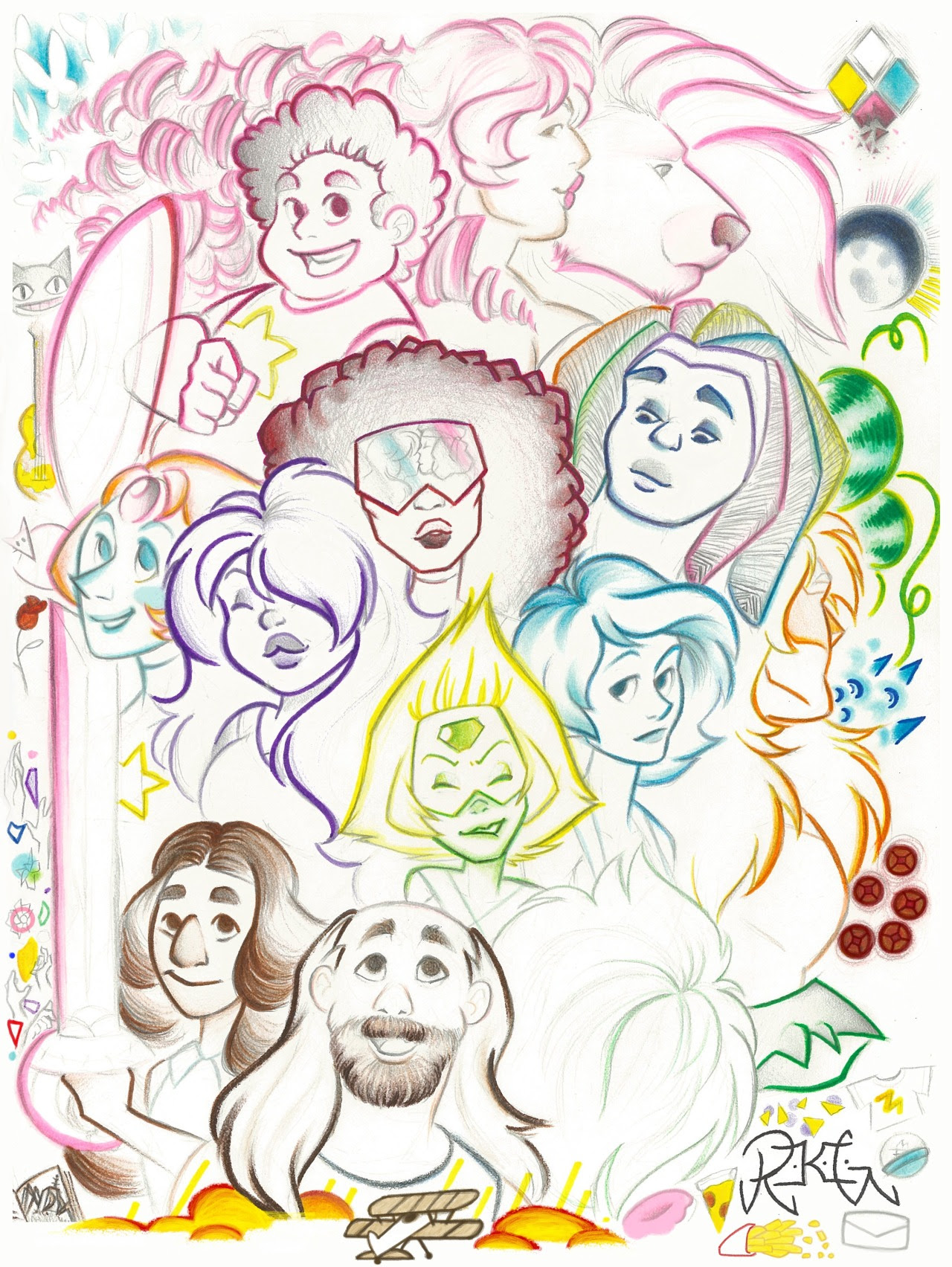My great big Steven Universe picture! It has always been hard for me to fit multiple characters, even just faces, together on on page, but I did it! I tried to throw in as much as I could. When I...