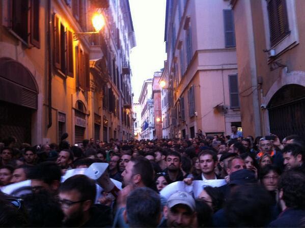 Marchers on Rome, Apr. 20, 2013 photo via  @_0Marco0_