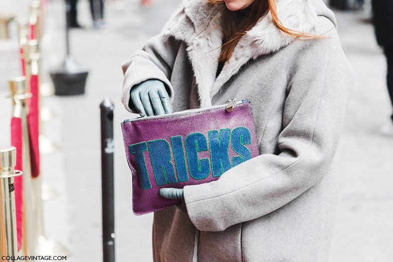 New_York_Fashion_Week-Fall_Winter_2015-Street_Style-NYFW-Grey_Coat-Fun_Clutch-