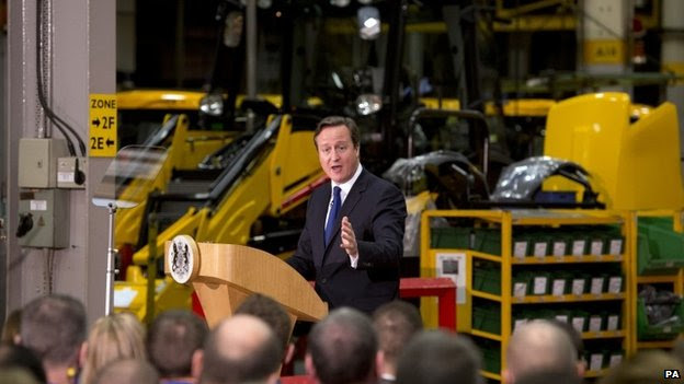 David Cameron speaking in the West Midlands