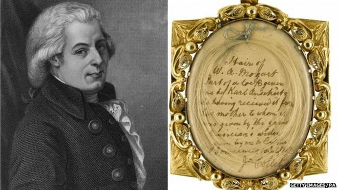 Mozart and lock of his hair