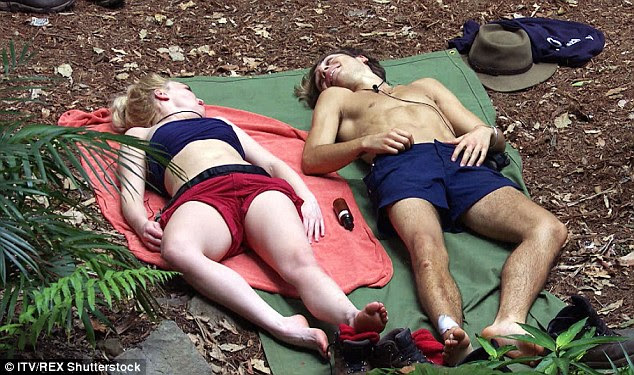 Sun-soaking:Earlier in the day they lay on the camp floor sunbathing while looking engrossed in a deep chat