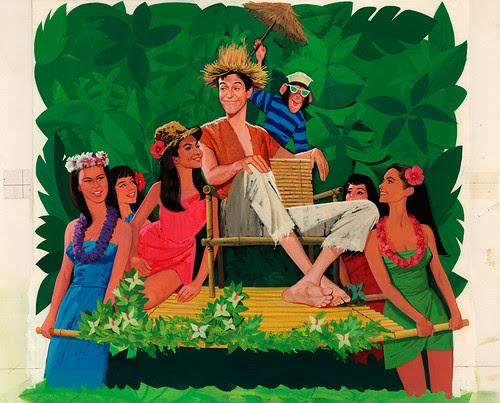 "Original Poster Art - Disney's ""Lt. Robin Crusoe USN"""
