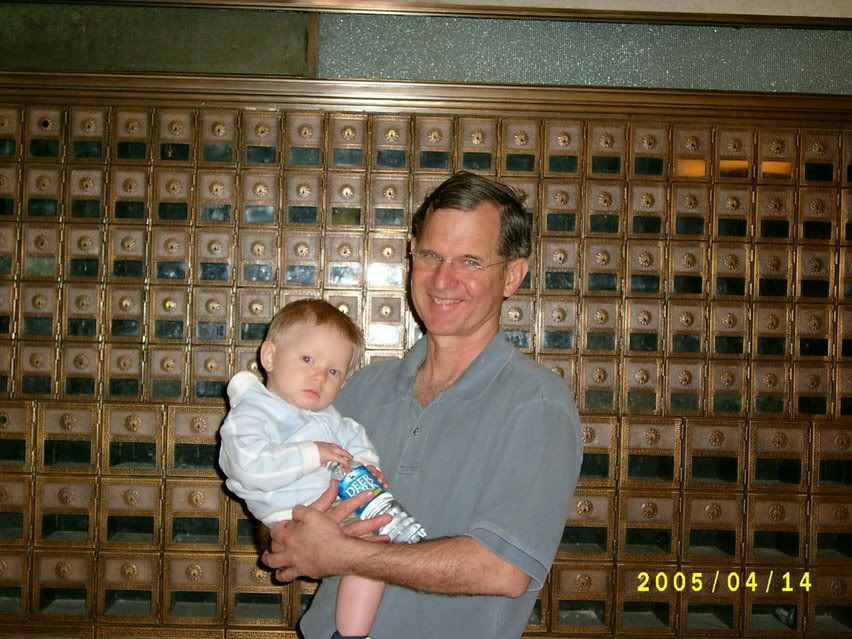 Dad and G at Postal Museum