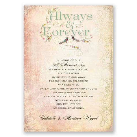 Always and Forever   Vow Renewal Invitation   vow renewal