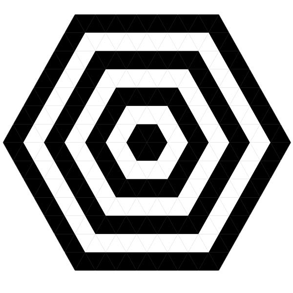 Black White Hexagonal Target Pictures Of Geometric Patterns