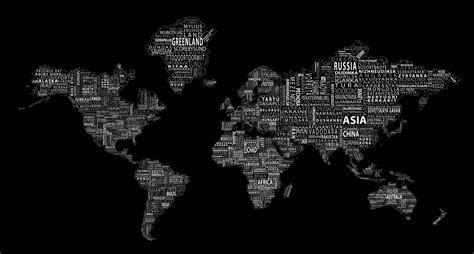 Free Black World Map Background at Cool » Monodomo