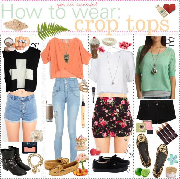 """How to wear: crop tops. ♥"" by the-polyvore-tipgirls ❤ liked on Polyvore"