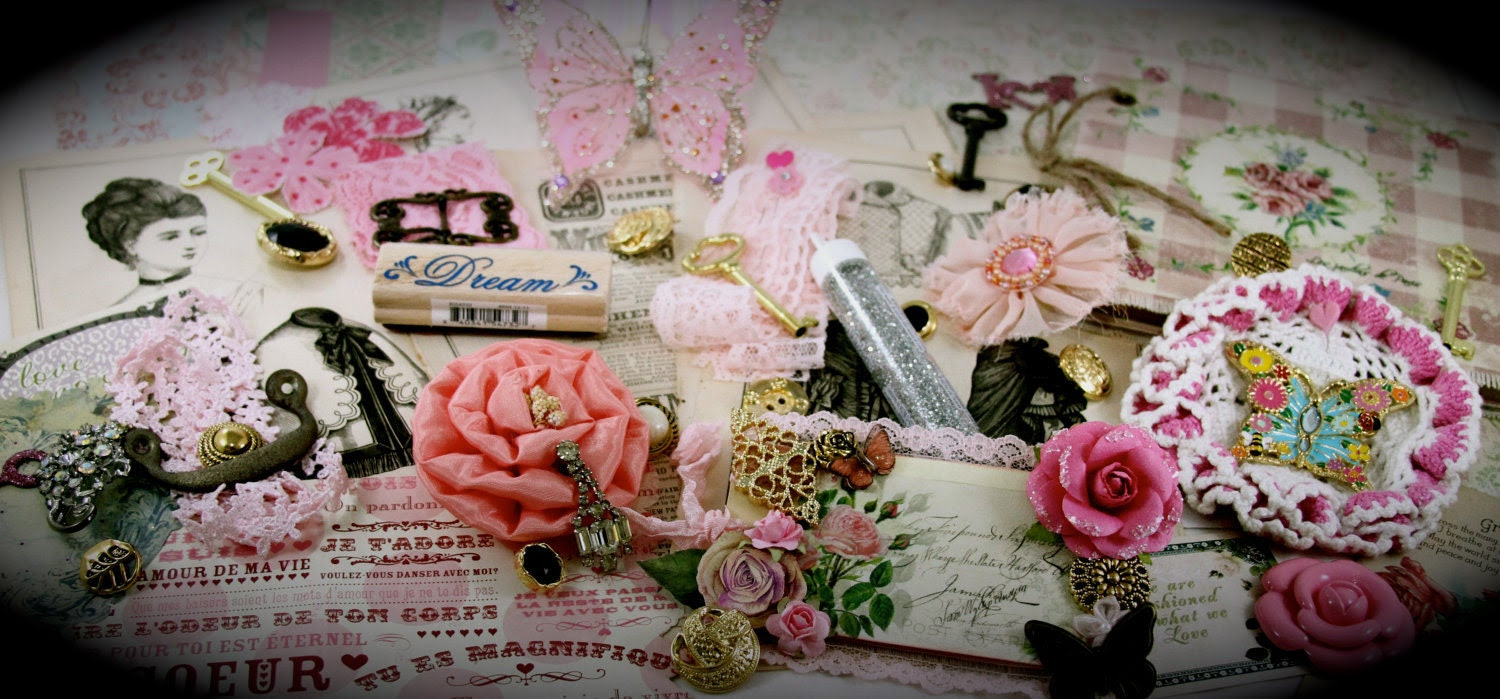 Dreaming of a French Cottage Home Project Embellishment Scrapbooking Altered Art KIT