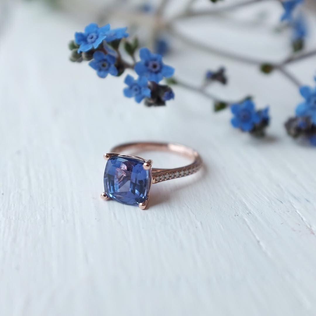 Custom tanzanite and rose gold beauty ✨ http://ift.tt/29cc7b4