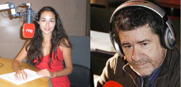 Mikaela Vergara y Carlos Santos, dos periodistas de RNE, ahora unidos en la sobremesa de Radio Nacional
