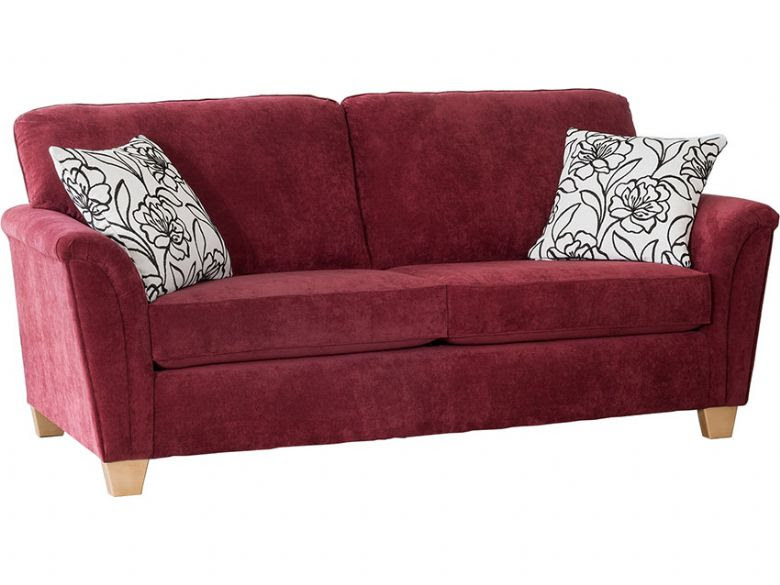 Alstons Barcelona 3 Seater Modern Fabric Sofa - Lee Longlands