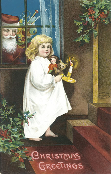 child at Christmas