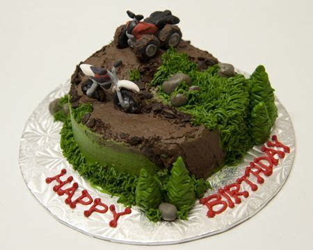 Birthday cakes, 4 wheelers and Cake creations on Pinterest