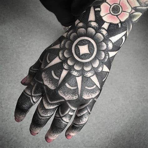 insane blackwork hand tattoos tattoodo