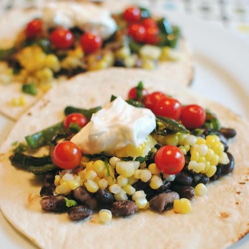 Black Bean and Sweet Corn Tacos