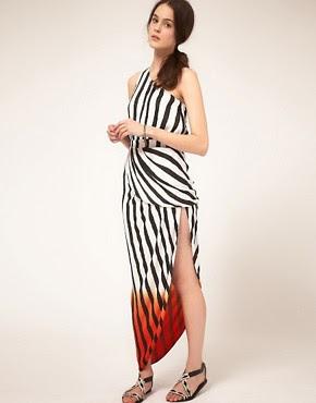 Image 1 ofSass and Bide 'Beyond this Life' Dip Dye Stripe Maxi Dress