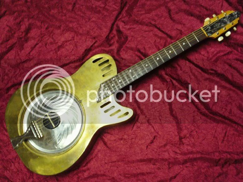 guitar blog vintage one off prototype brass bodied. Black Bedroom Furniture Sets. Home Design Ideas