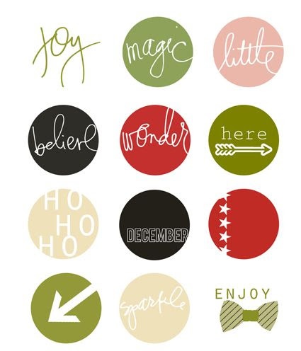 Free Christmas Labels from Heidi Swapp