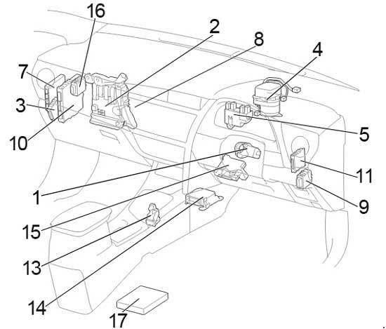 13 18 Toyota Auris Corolla Ascent Fuse Diagram
