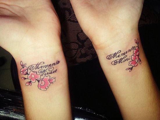 Small Family Tattoo On Wrist