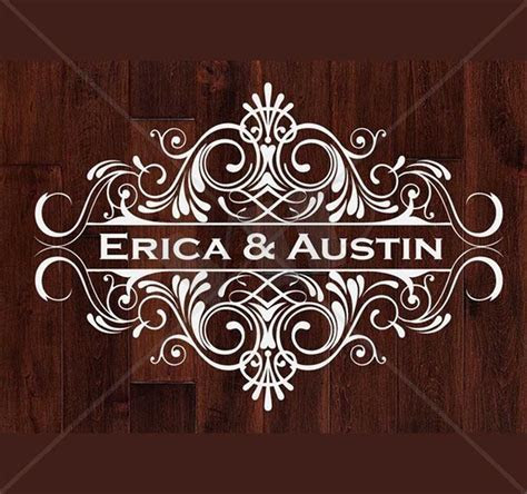 Dance Floor Monogram Vinyl Decal Decor for Weddings Custom